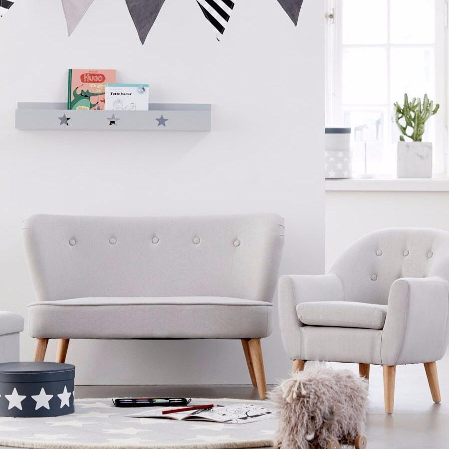 Kids Grey Star Book Shelf - Kids Concept - Angus & Dudley Collections