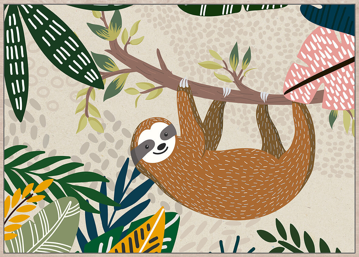Hangabout Sloth Wall Art - Angus & Dudley Collections