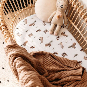 Snuggle Hunny Kids cotton blanket hazelnut