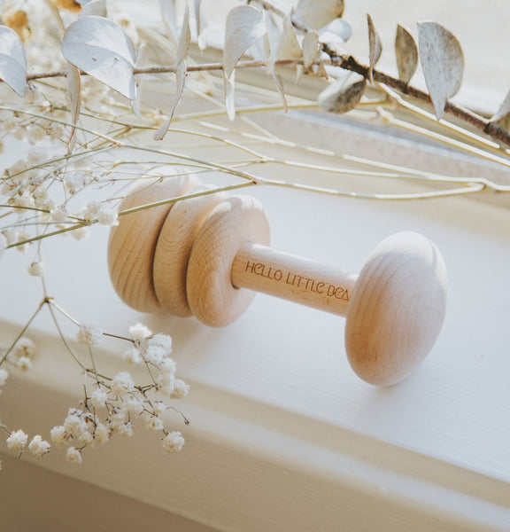 Keepsake Baby Wooden Rattle