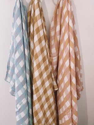 Milky Design Wrap - Toffee Gingham