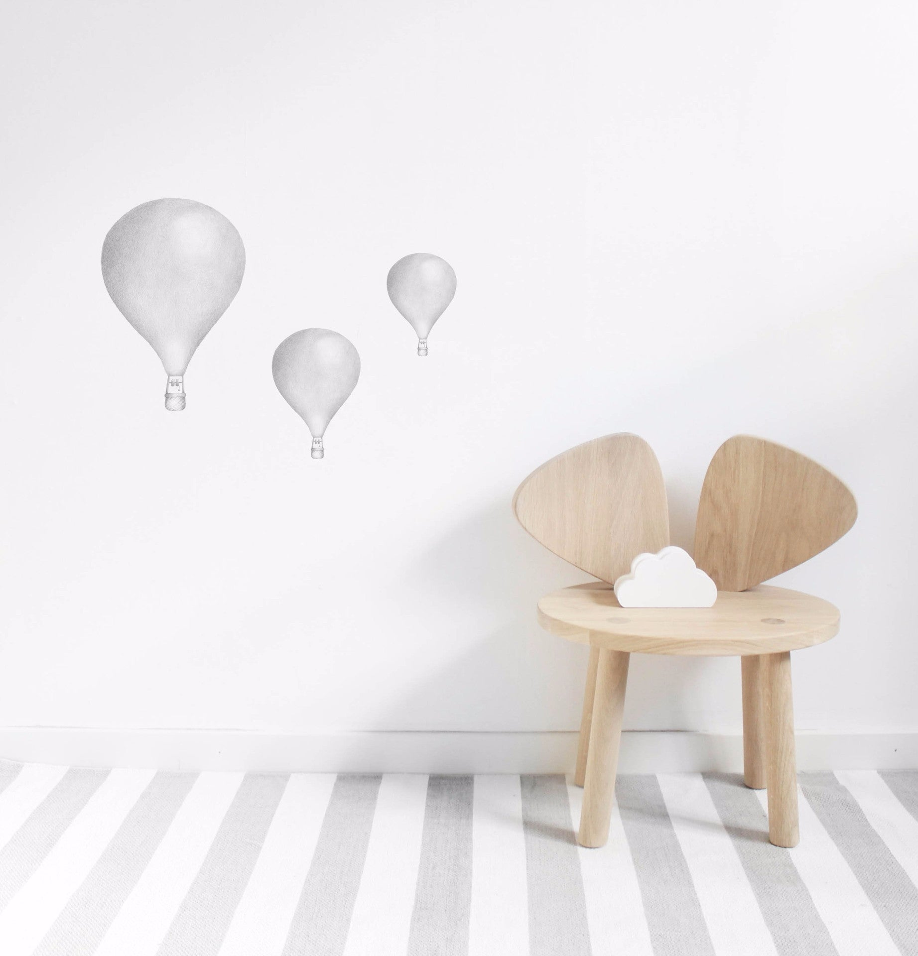 Wall Stickers - Balloons Light Grey - Angus & Dudley Collections