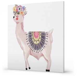 Llama Canvas Wall Art - Angus & Dudley Collections