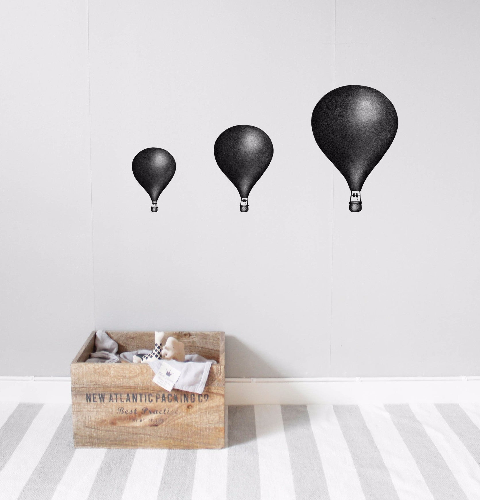 Wall Stickers for kids. Stickstay Nearly Black Balloons design.
