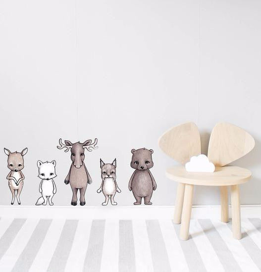 Wall Stickers - Nordic Friends - Angus & Dudley Collections