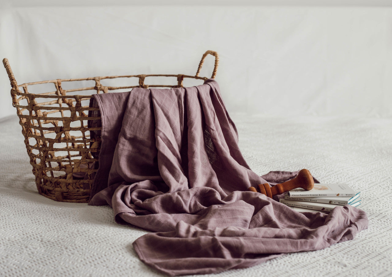 Organic Muslin Wrap - Dusk - Angus & Dudley Collections