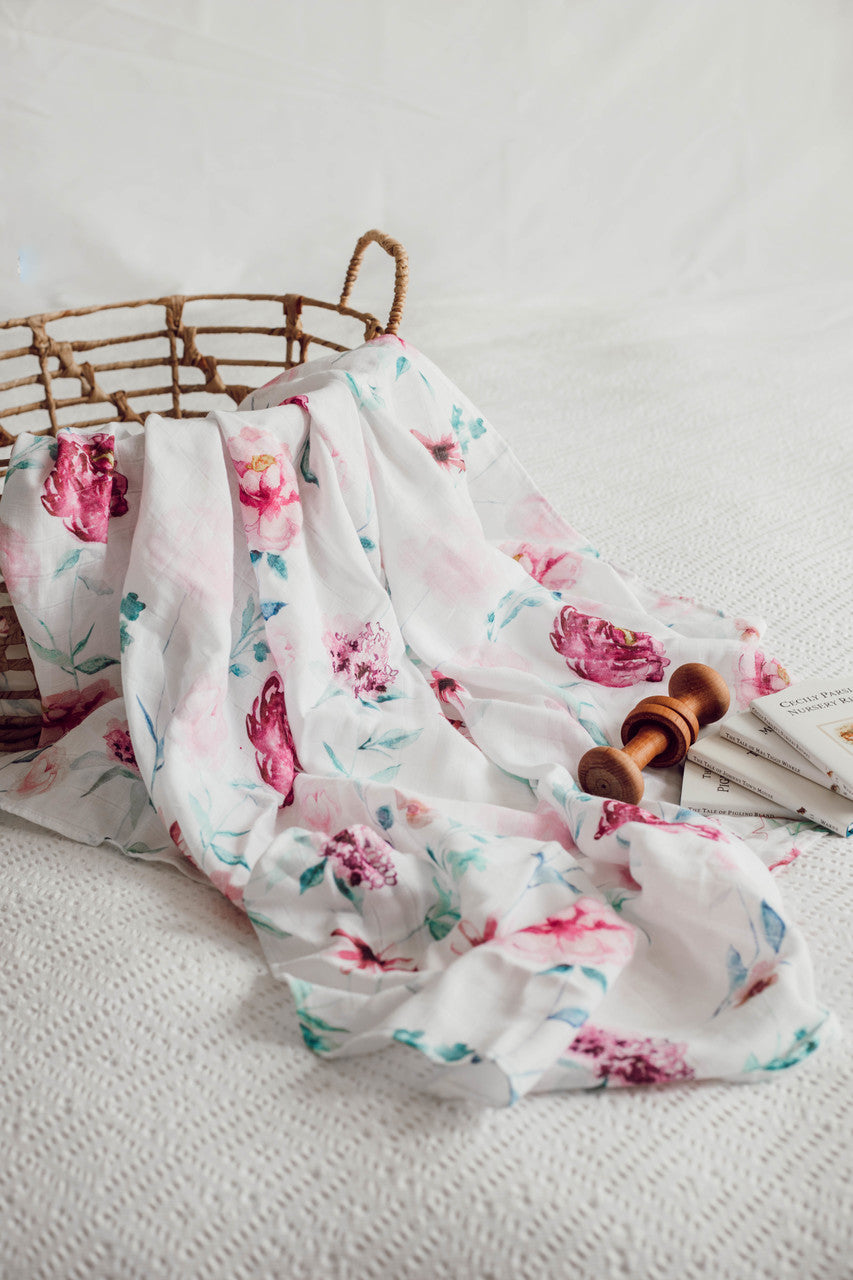 Organic Muslin Wrap - Wanderlust - Angus & Dudley Collections
