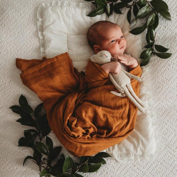 Organic Muslin Wrap - Bronze - Angus & Dudley Collections