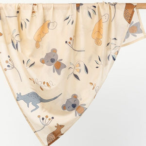 Baby cotton wrap/swaddle - Aussie Theme - Angus & Dudley Collections