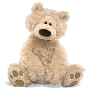 Gund soft stuffed plush toy bear Philbin beige- Angus & Dudley