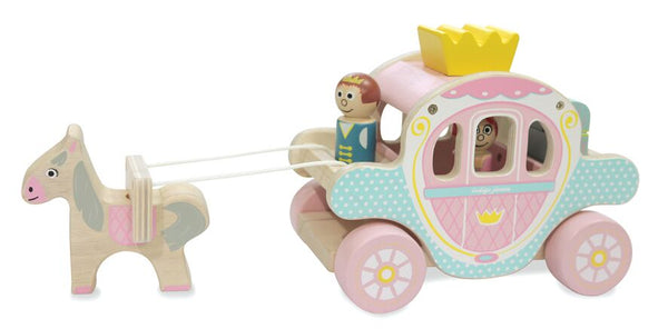 Indigo Jamm Princess Polly Wooden Toy Horse and Carriage
