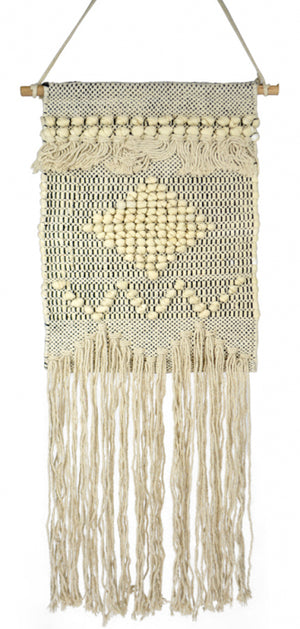 Natural/Black Macrame Wall Decor - Angus & Dudley Collections