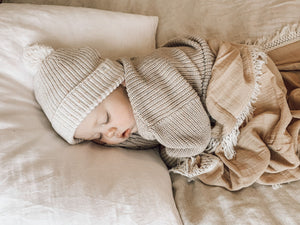 Ziggy Lou Sand Swaddle/Natural Fringe