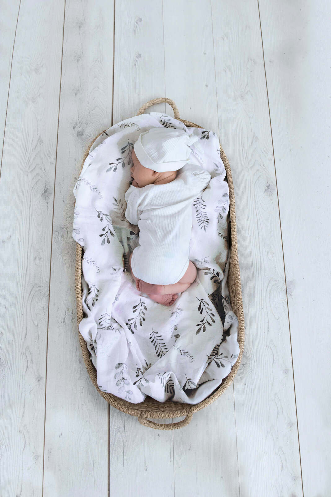 Organic Cotton Muslin Wrap - Wild Fern - Angus & Dudley Collections