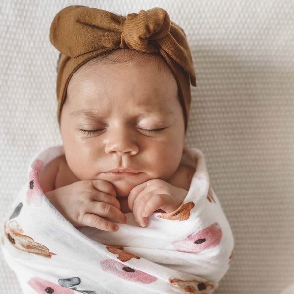 Snuggle Topknot Headband - Mustard - Angus & Dudley Collections