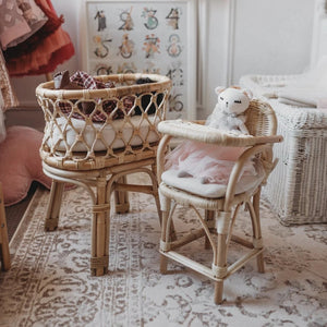 Doll's Rattan High Chair - Angus & Dudley Collections
