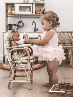 Tiny Harlow Doll's Rattan High Chair