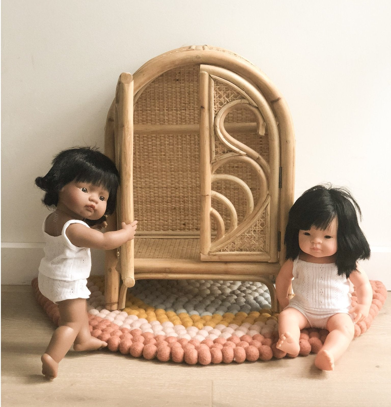 Doll's Rattan Wardrobe - Angus & Dudley Collections