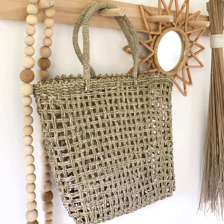 Seagrass Shopping Tote Basket - Angus & Dudley Collections