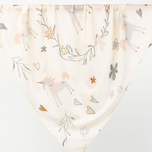 Baby cotton wrap/swaddle - Unicorn Theme - Angus & Dudley Collections