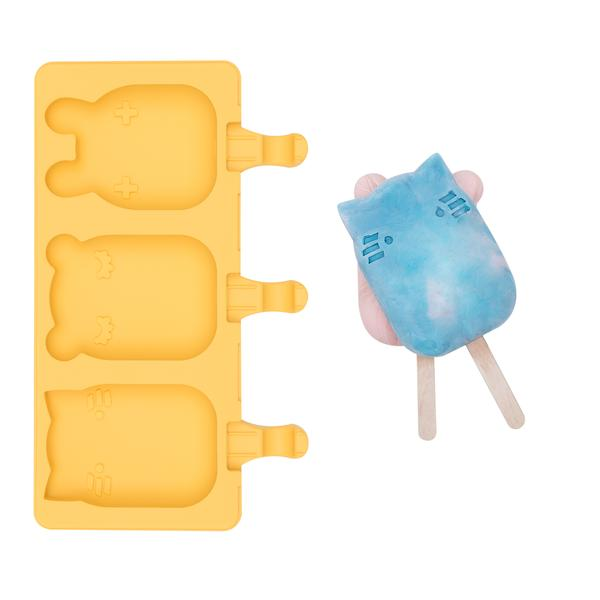 We Might Be Tiny Silicone Icy Pole Mould. Kids Meal time. Yellow.