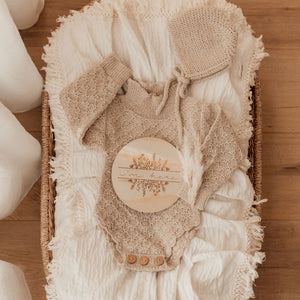 Ziggy Lou Cream Double Gauze Swaddle/Cream Fringe