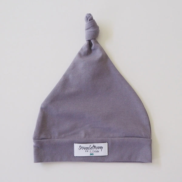 snuggle hunny kids grey knotted beanie /baby hat
