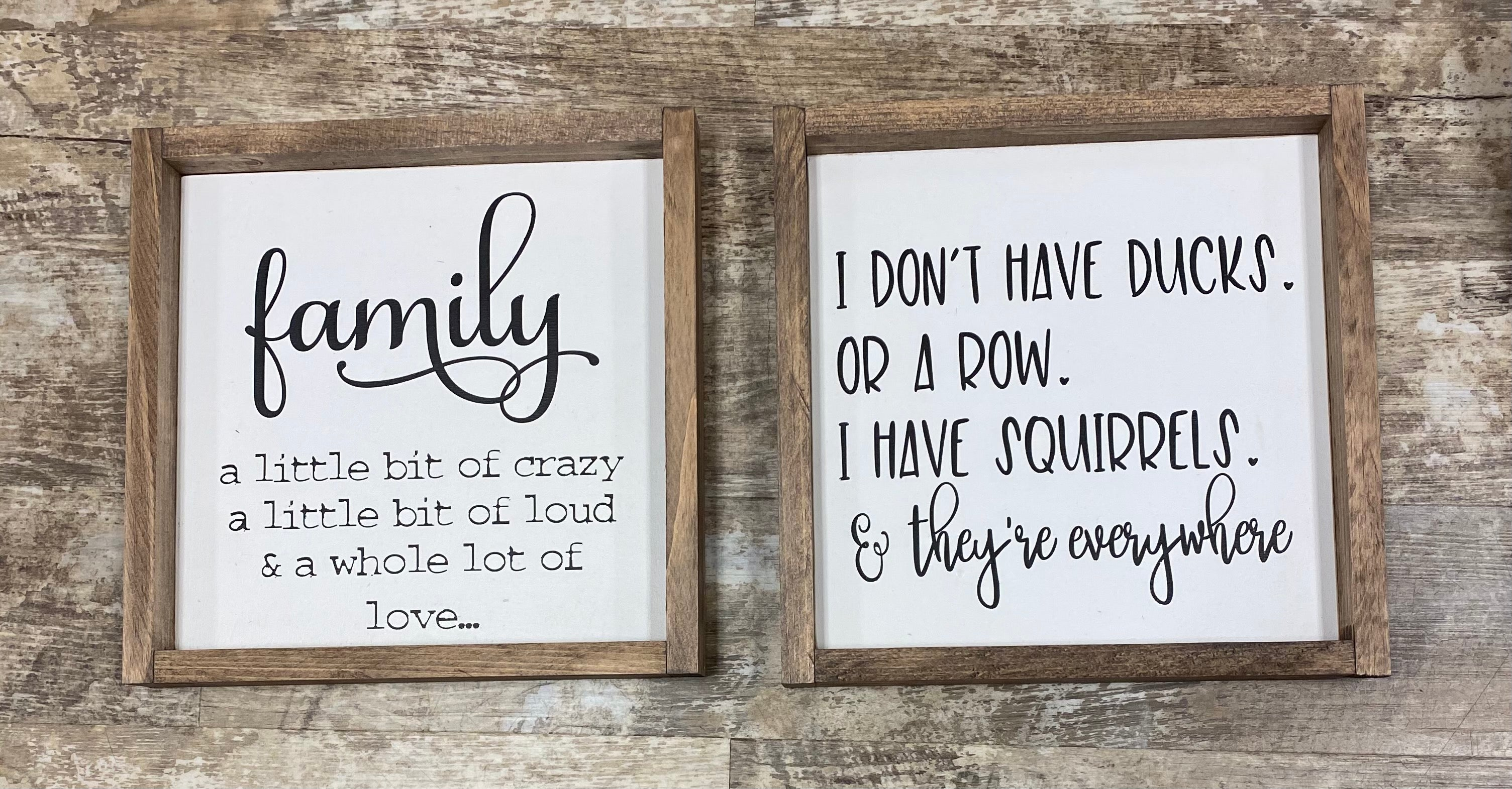12x12 Wooden Framed Sign