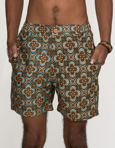 LIMITED Mr Prints Mens Sherman Shorts Alhambra Aqua