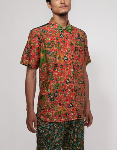Mr Prints Mens Sammy Short n Sweet Batik Chilli Salsa