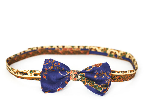 LIMITED EDITION The Billy Bow Batik Ocean Bloom bow tie