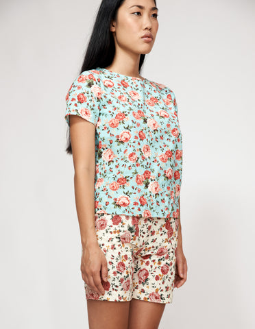 LIMITED ADDITION Mr Prints Womens Bridgette T Floral Dewy Bloom