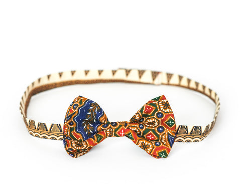 LIMITED EDITION The Billy Bow Batik Peafowl Marine bow tie