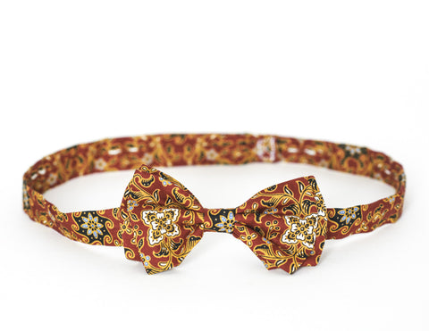 LIMITED EDITION The Billy Bow Batik Blood Orange