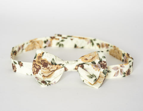 LIMITED EDITION The Billy Bow Floral Caramel Bloom bow tie