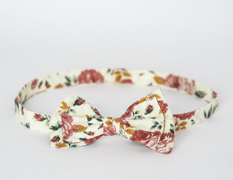 LIMITED EDITION The Billy Bow Floral Rose Bloom bow tie