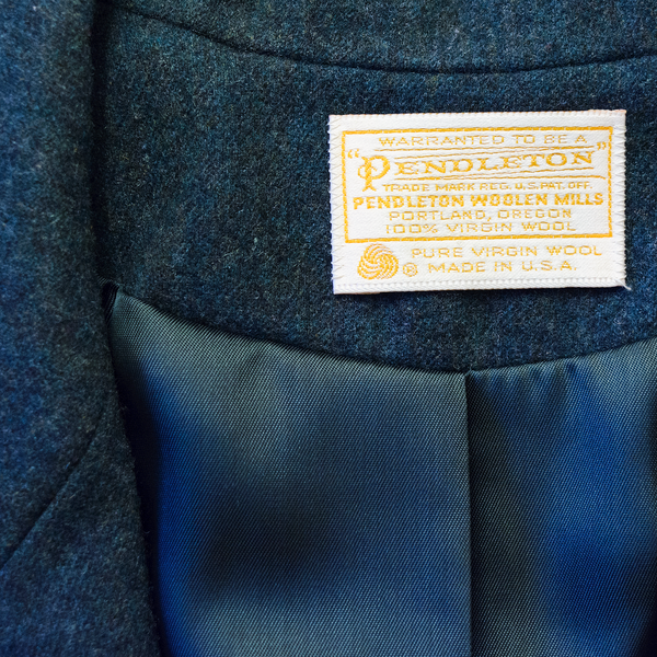 SOLD!!! Vintage 60s Blazer | 1960s Pendleton Dark Teal Wool Suit Jacket (M)