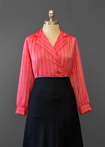 Vintage Shirts Blouses And Tops Red Plume Vintage
