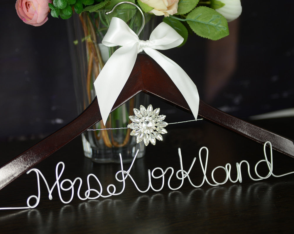 bridenew handmade wire name wedding hanger