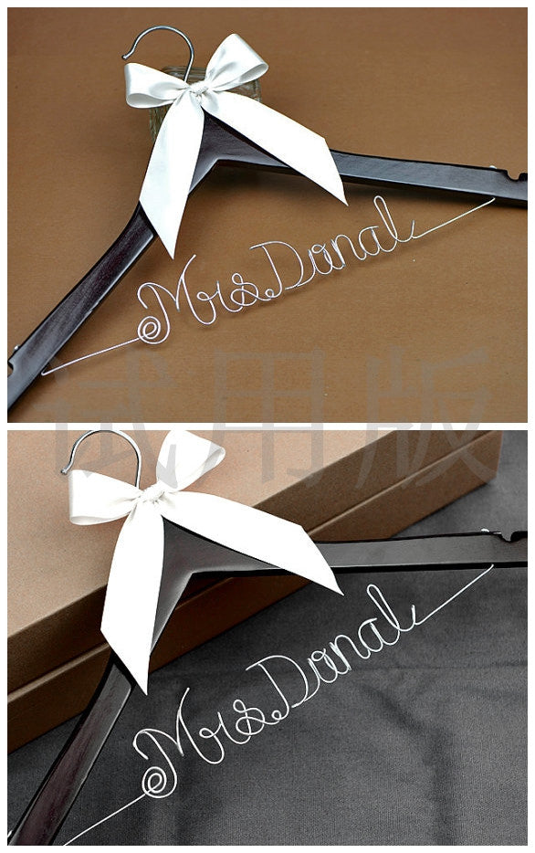 bridenew wedding hanger with wire name font d
