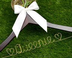 bridenew wedding hanger with bride name