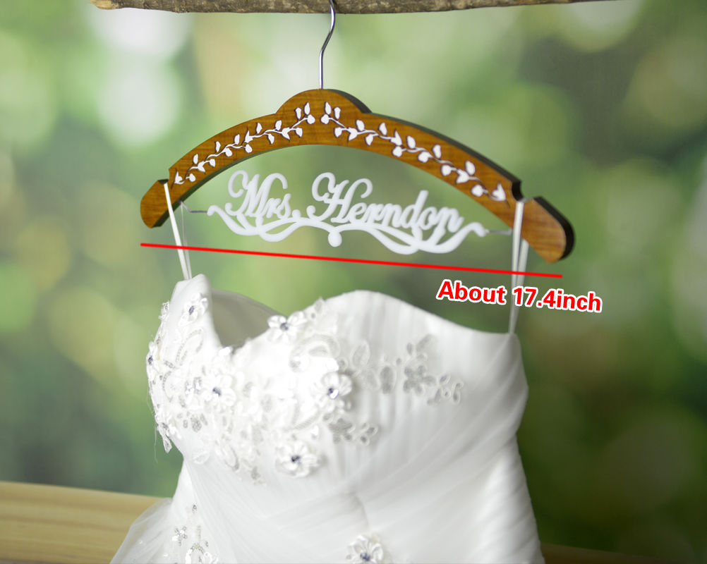 Wooden Hanger, Hanger for Wedding Dress, Future Last Name Hanger-JJ015