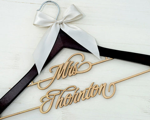 Personalized Rustic Wedding Hanger, Bride Bridesmaid Wood Name Hanger, Custom Wedding Bridal Dress Hanger,Bridal Shower Gift LL008