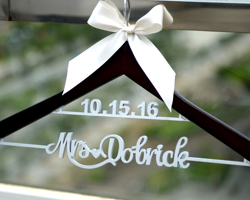 Personalized Bridal Hanger, Bride or Bridesmaid Dress Hanger -Bridenew