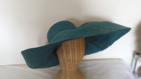 Ladies wide brim hats plain colours