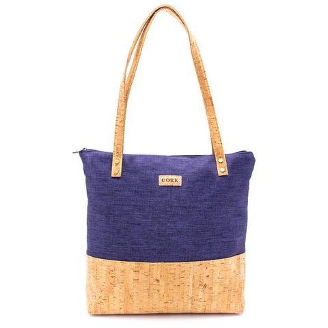 Cork Tote Bag with fabric
