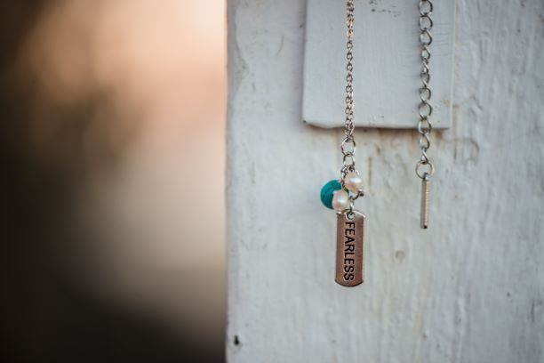 Turquoise & Pearl Necklace with charm