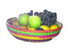 Handmade raffia fruit bowl