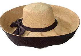 Two tone wide brim hat
