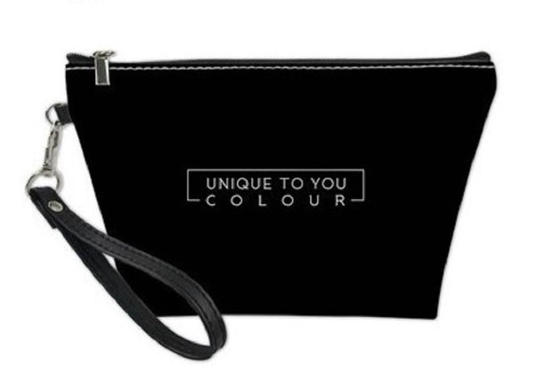 Classic Black Designer Makeup Bag